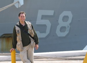 Brad Peniston, visiting USS Samuel B. Roberts (FFG‑58)