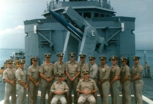 The officers of the USS Samuel B. Roberts in 1988. (Photo courtesy Bob Chambers)