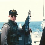 Lt. (j.g.) Bob Chambers, in the Gulf in 1988