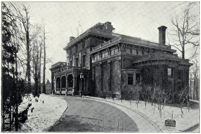 """Chestnutwold,"" Clark's West Philly mansion (""King's Views of Philadelphia"" (1900)/Bryn Mawr)"